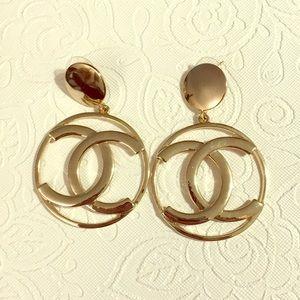Chanel vintage hoop earrings.